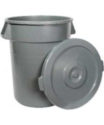 Winco PTCL-32 Grey Lid for 32 Gallon Trash Can