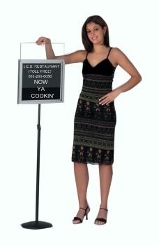 Aarco CMD1418 Free Standing Single Pedestal Directory Board