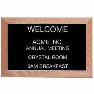 Aarco AOFD1218 Wood Framed Directory Board Message Center 12x18