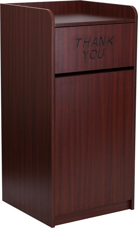Flash Furniture  Wood Tray Top Receptacle in Mahogany Finish [MT-M8520-TRA-MAH-GG]