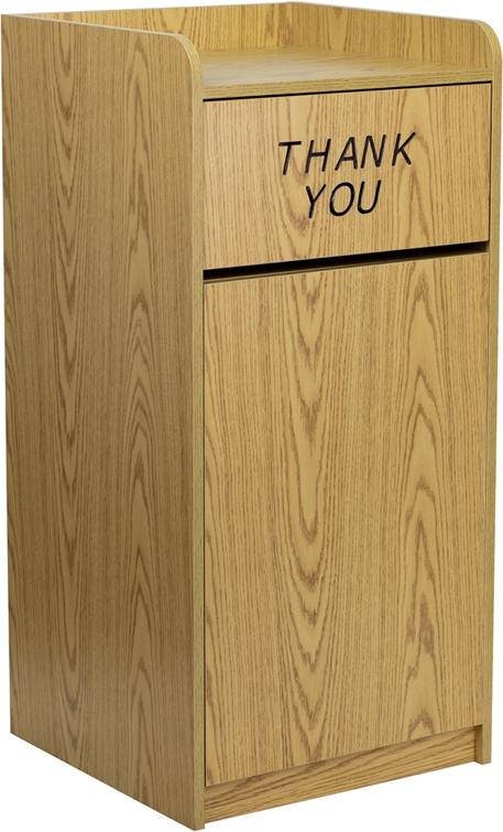 Flash Furniture  Wood Tray Top Receptacle in Oak Finish [MT-M8520-TRA-OAK-GG]