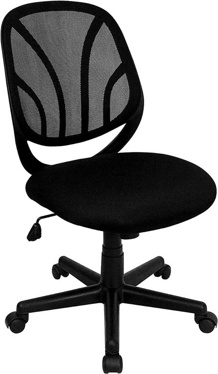 Flash Furniture  Y-GO Chair™ Mid-Back Black Mesh Computer Task Chair [GO-WY-05-GG]