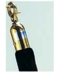 Aarco TR-2 Form-A-Line Black Rope 5' with Brass Hardware