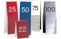 numbered tent cards