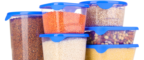 Glass containers are often preferable over plastic, due to health and environmental concerns.