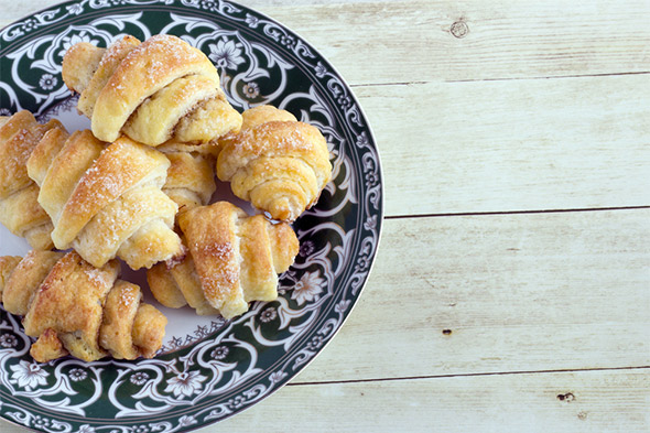 Cinnamon pastries - butter horns - rugelach