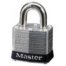 # 3 Master Lock --Individually Keyed-- Black Bumper (3/4 Shackle) Individually Keyed Laminated width=