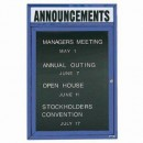 """Aarco OADC2418HIB 1 Door Outdoor Illuminated Enclosed Directory Board with Blue Anodized Aluminum Frame and Header 24"""" x 18"""" width="""