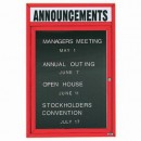 """Aarco OADC2418HIR 1 Door Outdoor Illuminated Enclosed Directory Board with Red Anodized Aluminum Frame and Header 24"""" x 18"""" width="""