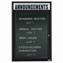 """Aarco OADC2418HBK 1 Door Outdoor Enclosed Directory Board with Black Anodized Aluminum Frame and Header 24"""" x 18"""" width="""