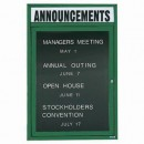 """Aarco OADC2418HG 1 Door Outdoor Enclosed Directory Board with Green Anodized Aluminum Frame and Header 24"""" x 18"""" width="""