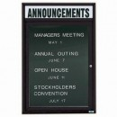 """Aarco OADC3624HBK 1 Door Outdoor Enclosed Directory Board with Black Anodized Aluminum Frame and Header 36"""" x 24"""" width="""