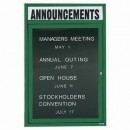 """Aarco OADC3624HG 1 Door Outdoor Enclosed Directory Board with Green Anodized Aluminum Frame and Header 36"""" x 24"""" width="""