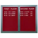 "Aarco OADC3630 1 Door Outdoor Enclosed Directory Board with Aluminum Frame  36"" x 30"" width="