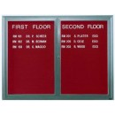 """Aarco OADC3630G 1 Door Outdoor Enclosed Directory Board with Green Anodized Aluminum Frame  36"""" x 30"""" width="""