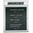 """Aarco OADC3630H 1 Door Outdoor Enclosed Directory Board with Aluminum Frame and Header 36"""" x 30"""" width="""