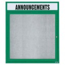 """Aarco ODCC3630RHG 1 Door Outdoor Enclosed Bulletin Board with Green  Powder Coated Aluminum Frame and Header 36"""" x 30"""" width="""