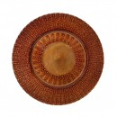 "10 Strawberry Street AZT-340(CPR) Aztec Copper Glass Charger Plate 13"" (Set of 6) width="