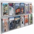 "Aarco LRC117 Clear-Vu Magazine and Literature Display - 12 Pocket  25"" x 60"" width="