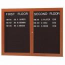 Aarco OADCO3648R 2 Door Outdoor Enclosed Directory Board with Aluminum Wood-Look Oak Finish 36'' x 48'' width=