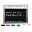 """Aarco DBM4260R Double Sided Illuminated Community Board with Header, Red Powder Finish 42"""" x 60"""" width="""