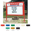"Aarco DMBS5286 Double Sided Marquee Sign with Symbol Case and Header - Satin Anodized 52"" x 86"" width="