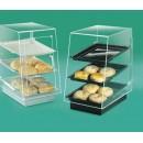 3 Tray Cabinet - Slant Front, Rear Door W/ Black Pedestal Base width=