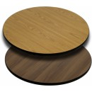Flash Furniture 30'' Round Table Top with Natural or Walnut Reversible Laminate Top [XU-RD-30-WNT-GG] width=