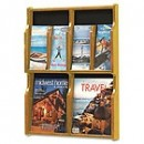 Aarco LRC114 Clear-VU Combination Pamphlet / Magazine Display - 8 Pamphlets, 4 Magazines width=
