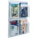 "Aarco LRC104 Clear-Vu Magazine and Literature Display - 4 Pocket 25"" x 21"" width="