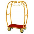 Aarco BEL-101B  Bellman's Brass-Finish Curved Luggage Cart width=
