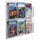 "Aarco LRC103 Clear-Vu Magazine and Literature Display - 6 Pocket  25"" x 30"" width="