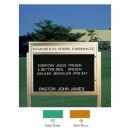 "Aarco BM3343FG Single Sided Illuminated Community Board with Header, Forest Green Powder Finish 33"" x 43"" width="