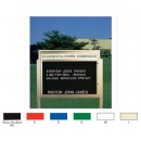 "Aarco BM3343G Single Sided Illuminated Community Board with Header, Green Powder Finish 33"" x 43"" width="