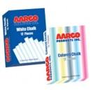 Aarco WCS-144 12 Piece White Chalk Box - 144 Boxes width=