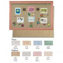 Aluminum Frame Standard Series Burlap-Weave Vinyl Bulletin Board 12x18 (1 Each/Unit) width=