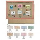 Aluminum Frame Standard Series Burlap-Weave Vinyl Bulletin Board 18x24 (1 Each/Unit) width=