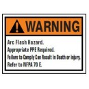 Arc Flash Hazard. Appropriate Ppe Required. Failure To Comply Can Result In Death Or Injury. Refer width=