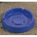 Ash Tray, 4-1/4'' Dia., Round, Melamine, Blue, Nsf (1 Dozen/Unit) width=