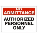 Authorized Personnel Only [3X5 Vinyl Press On] width=