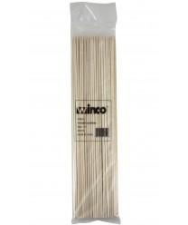 "Winco WSK-12 Bamboo Skewers, 12"", (100/Bag)"