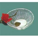 Basket, 9'' Dia., Round, Wire, Stainless Steel, Imported(1 Each/Unit) width=