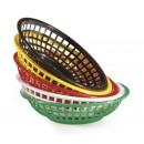"GET Enterprises RB-820-BK Black Round Plastic Bread & Bun Basket, 8""(3 Dozen) width="