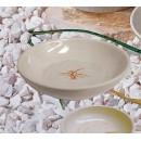 "Thunder Group 3955GD Gold Orchid Flat Bowl 5"" (1 Dozen) width="
