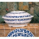 Thunder Group 8011DL Blue Dragon Serving Bowl with Lid  80 oz. width=