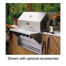 Built-In Outdoor Charbroiler, Natural Gas, 33-1/2''L X 27''D, 28'' X 21'' Grill Area, 4 Burners,(1 Each/Unit) width=
