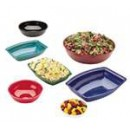 Camwear Bowl, Ribbed, Round, 6'' Dia., 18.8 Oz. Capacity, Polycarbonate, Dishwasher Safe, Red, Nsf (12 Pieces/Unit) width=