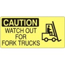 Caution---Watch-Out-For-Fork-Trucks--W-Forklift-Picto--[7X17-Aluminum]