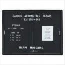 "Aarco RSD3648GB Enclosed Radius Design Directory Board with Sliding Doors and Medium Grey Frame 36"" x 48"" width="