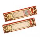 Chopsticks, Plastic, 10-1/2''L, Tangerine (10 Pairs Per Pack) (1 Pack/Unit) width=